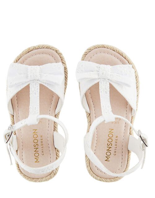 Baby Broderie Sandals, Ivory (IVORY), large