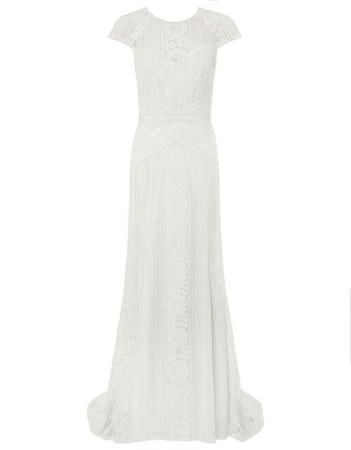 Meghan Geo Lace Maxi Wedding Dress, Ivory (IVORY), large