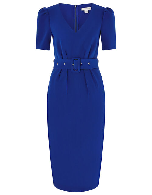 Stephanie Belted Shift Dress, Blue (COBALT), large