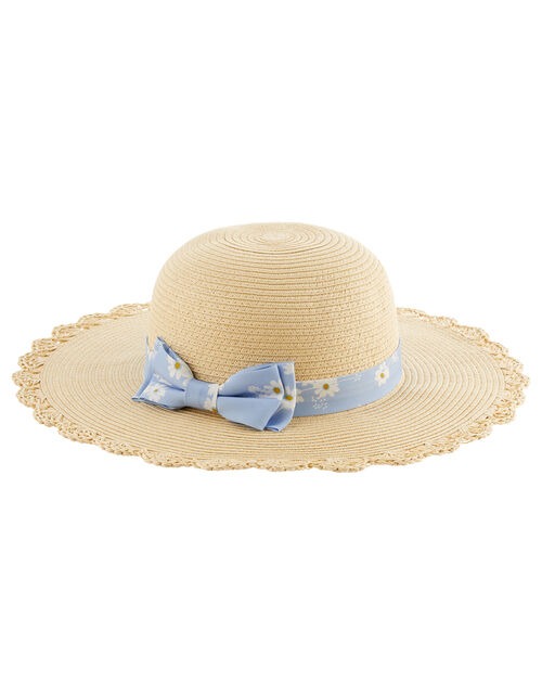 Ella Daisy Floppy Hat , Natural (NATURAL), large