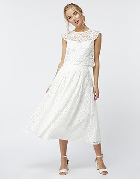 Delilah Lace Skirt Ivory, Ivory (IVORY), large