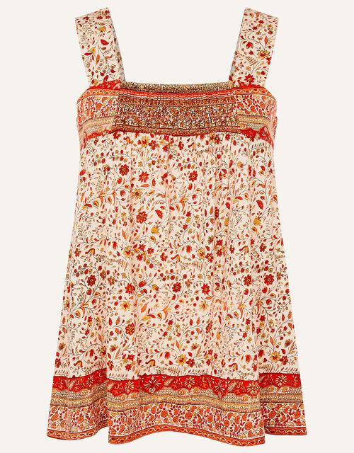 Heli Heritage Print Jersey Cami, Orange (ORANGE), large