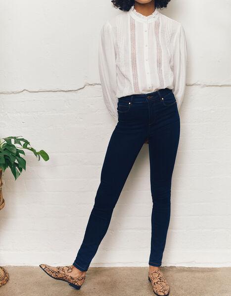 Nadine Dark Rinse Skinny Jeans with Organic Cotton Blue, Blue (INDIGO), large