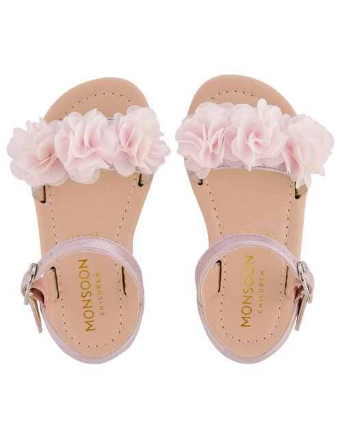 Baby Corsage Sandals, Pink (PINK), large