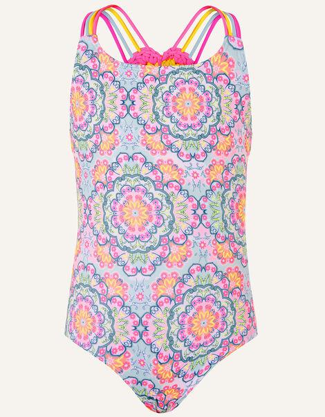Mandala Crochet Back Swimsuit Purple, Purple (LILAC), large