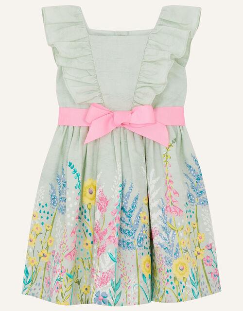 Baby Floral Jacquard Dress, Blue (AQUA), large