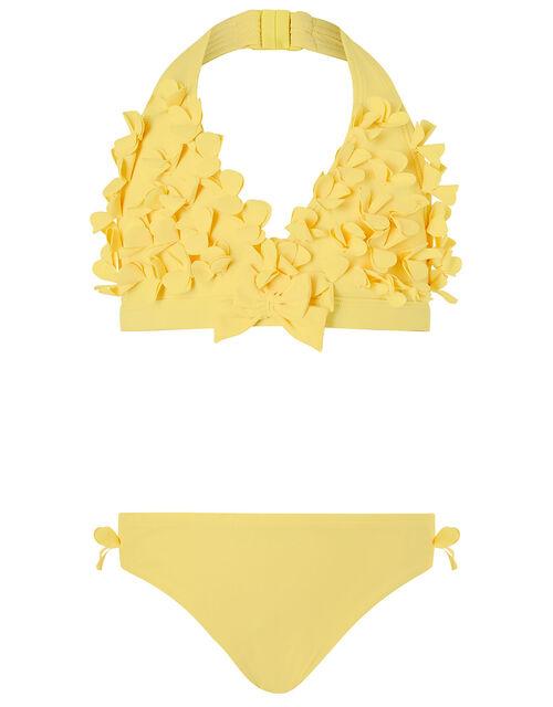 3D Flower Bikini Set, Yellow (YELLOW), large