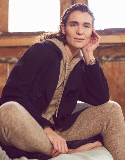 LOUNGE Skinny Knit Joggers, Camel (OATMEAL), large