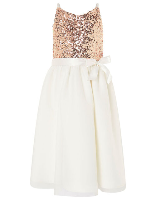 Truth Sequin Scuba Dress, Ivory (IVORY), large