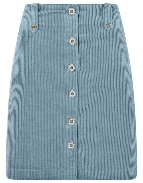 Jessica Jumbo Cord Skirt, Blue, large