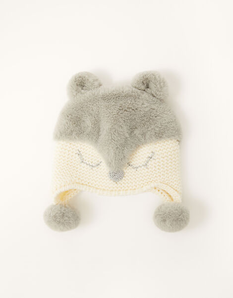 Baby Maggie Sparkle Deer Hat  Ivory, Ivory (IVORY), large
