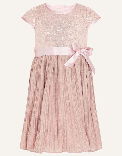 Baby Sequin Dress, Pink (DUSKY PINK), large