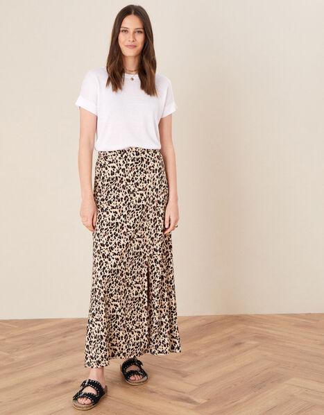 Vikky Animal Print Maxi Skirt Camel, Camel (BEIGE), large