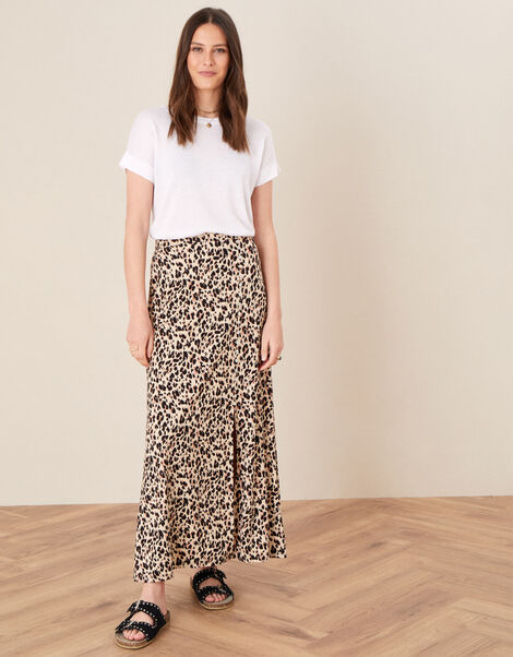 Vikky Animal Print Maxi Skirt Camel, Camel (BEIGE), large