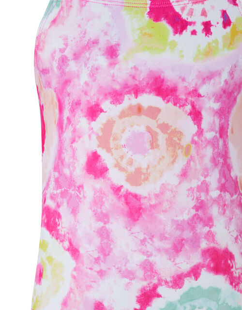 Tammy Tie Dye Swimsuit with Recycled Fabric, Pink (PINK), large