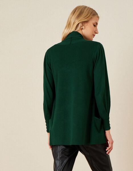Sandy Shawl Collar Pocket Cardigan Green, Green (DARK GREEN), large