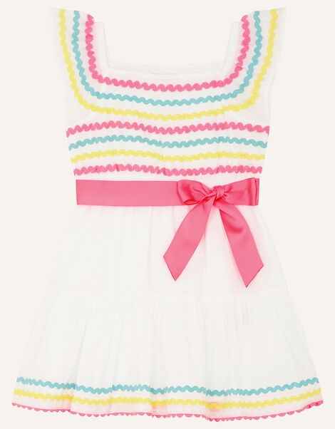 Baby Fiesta Ricrac Dress White, White (WHITE), large