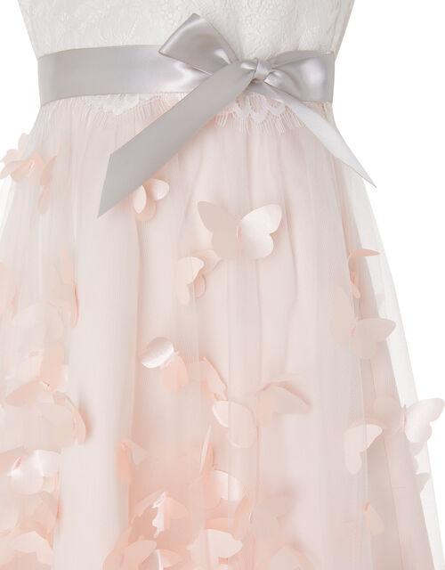 Flutter Butterfly Hi-Low Dress, Pink (PALE PINK), large