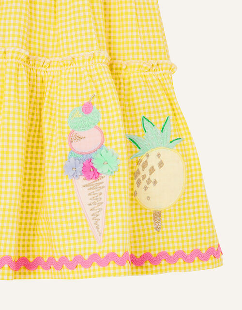 Baby Ice Cream 2-in-1 Dress, Yellow (YELLOW), large