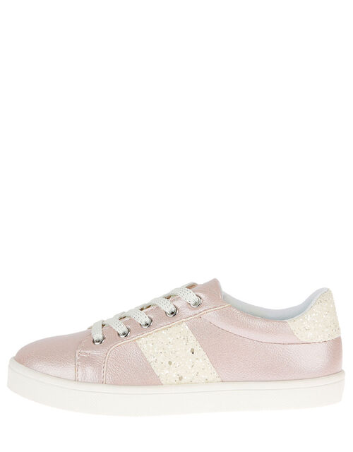 Shimmer Glitter Trainers, Pink (PINK), large