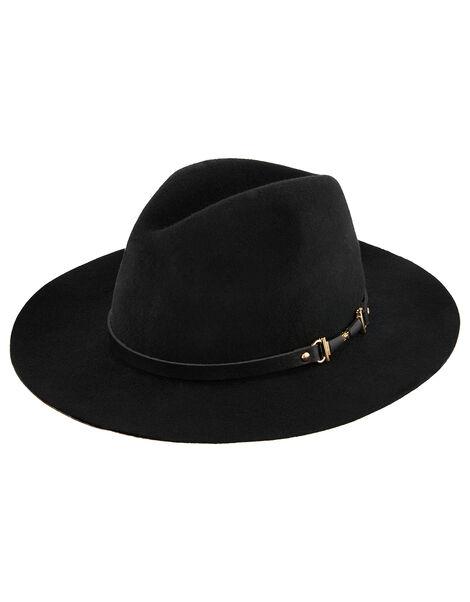 Metal Trim Fedora Hat, , large