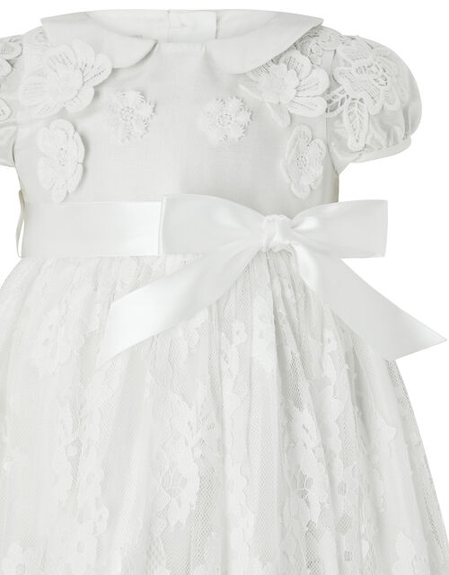 Baby Provenza Silk Christening Gown, Ivory (IVORY), large
