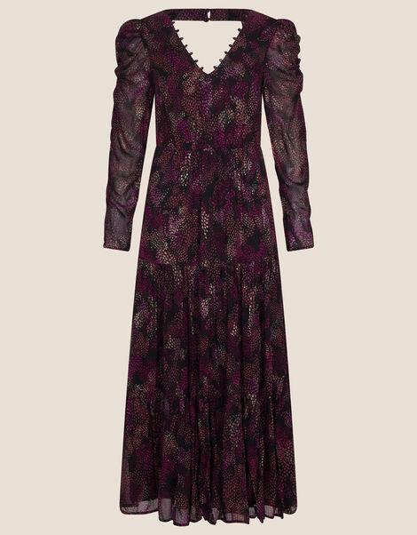Blake Tiered Midi Dress Black, Black (BLACK), large