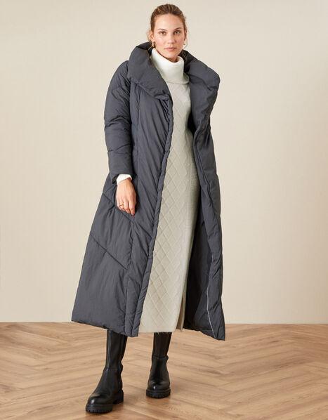 Mackenzie Padded Maxi Coat Grey, Grey (CHARCOAL), large