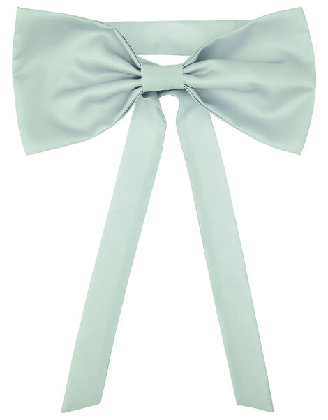 BRIDESMAID Duchess Twill Bow and Sash  Green, Green (GREEN), large