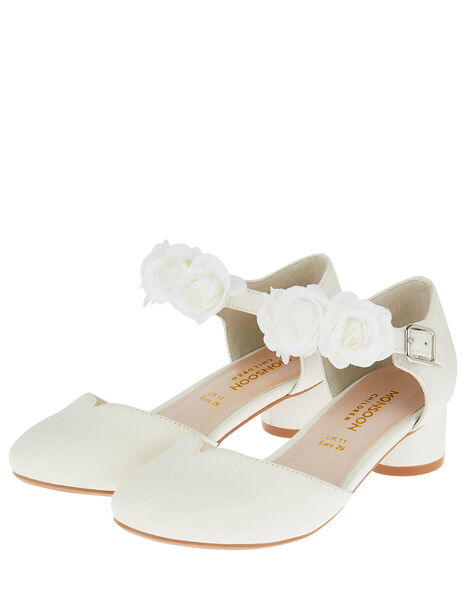 Shimmer Corsage Heels Ivory, Ivory (IVORY), large