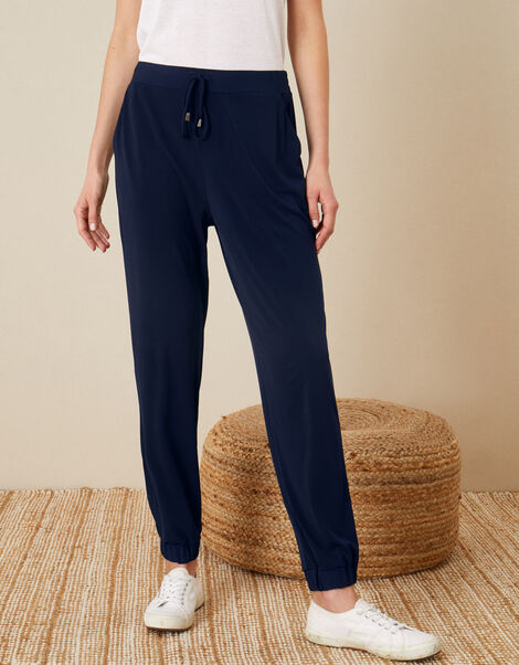 LOUNGE Nieve Jersey Joggers Blue, Blue (NAVY), large