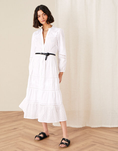 Phillipa Embroidered Lace Maxi Dress Natural, Natural (IVORY), large