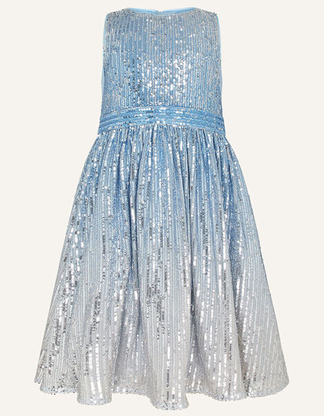 Sequin Ombre Sleeveless Dress Multi, Multi (MULTI), large