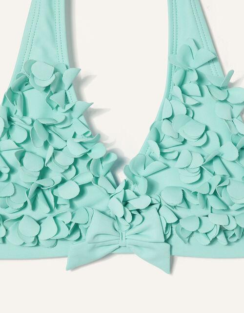 3D Flower Bikini Set, Blue (TURQUOISE), large