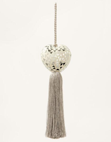 Heart Door Tassel Grey, Grey (GREY), large
