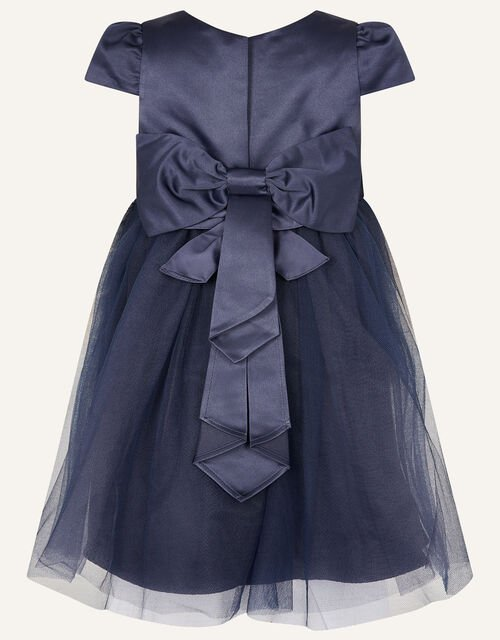 Baby Tulle Skirt Bridesmaid Dress, Blue (NAVY), large