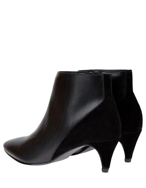 Leather and Suede Ankle Boots, Black (BLACK), large