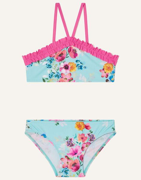 Josie Floral Frill Bikini Set Multi, Multi (MULTI), large