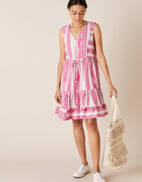 Woven Jacquard Dress Pink, Pink (PINK), large