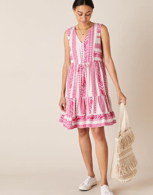 Woven Jacquard Dress, Pink (PINK), large