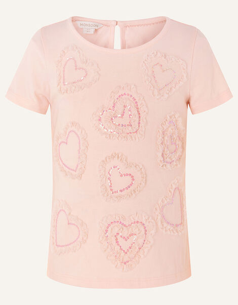 Tulle Heart T-Shirt  Pink, Pink (PALE PINK), large