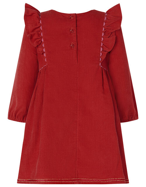 Baby Robin Cord Dress, Red (RED), large