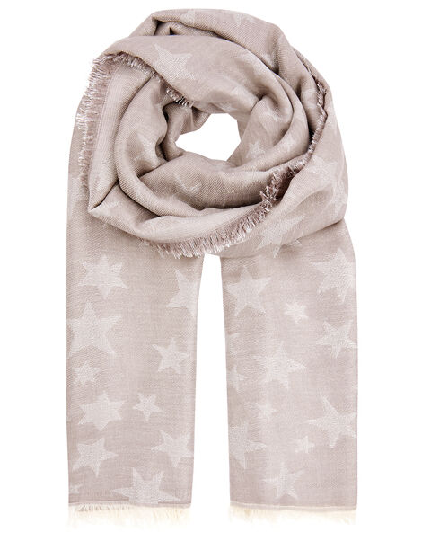 Star Jacquard Blanket Scarf, , large