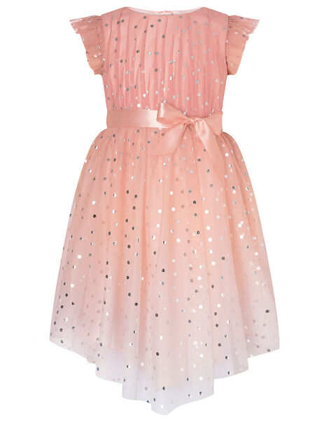 Metallic Spot Ombre Dress Pink, Pink (PINK), large