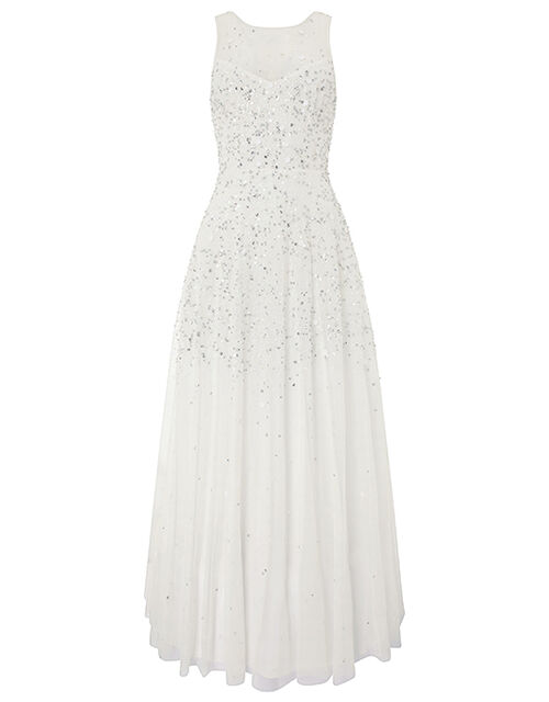 Victoria Embellished Maxi Wedding Dress, Ivory (IVORY), large