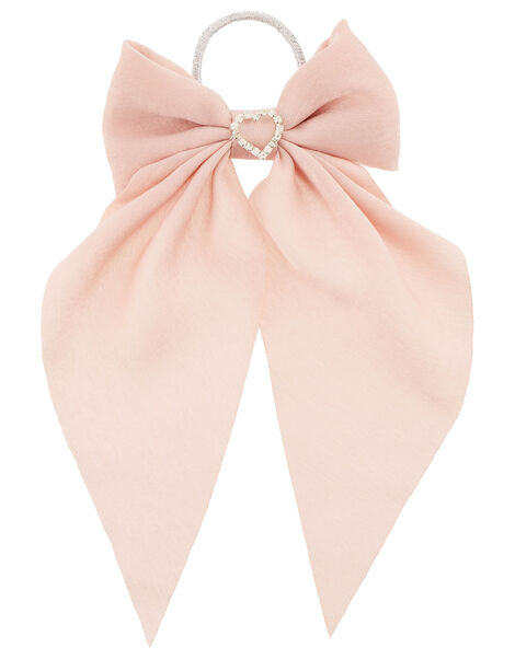 Diamante Heart Bow Hair Band  , , large