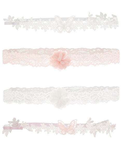 Baby Lacey Flower and Butterfly Bando Set, , large