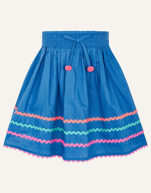 Fiesta Ricrac Top and Skirt Set , Blue (BLUE), large