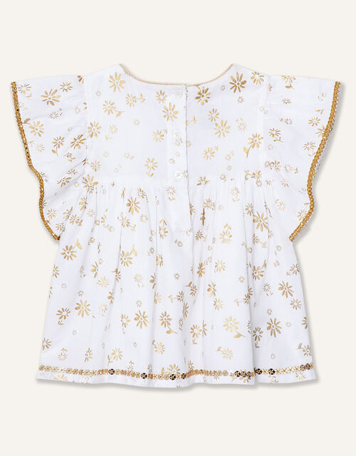 Baby Daisy Foil Top and Legging set , Ivory (IVORY), large