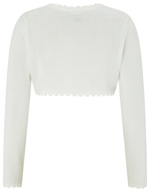 Niamh Crystal Knitted Cardigan, Ivory (IVORY), large
